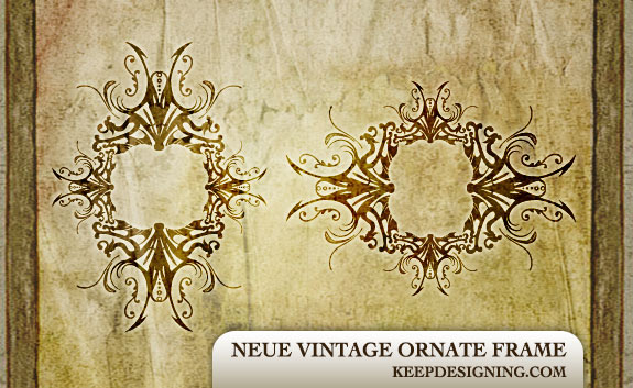 free vector ornate vintage frame