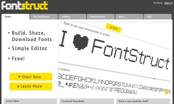 Fontstruct- font creating website