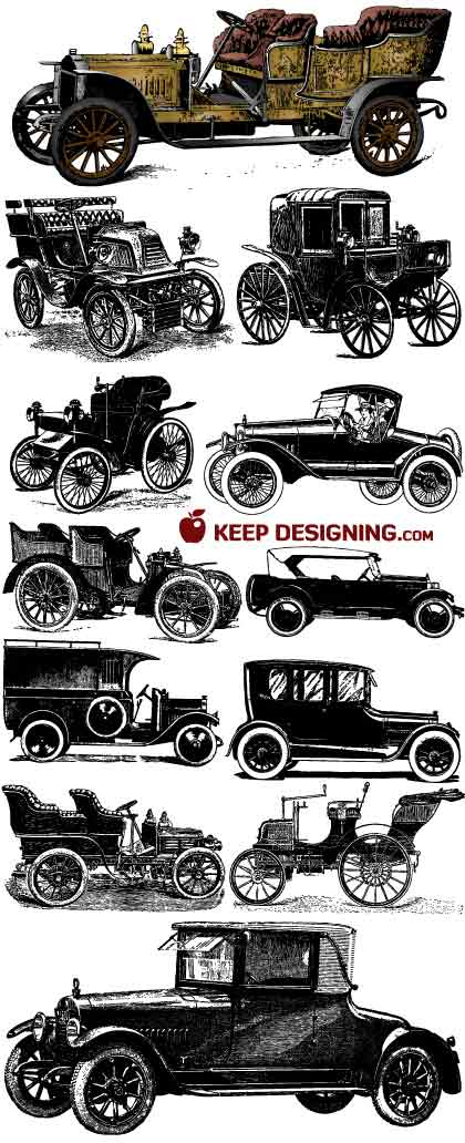 old car vector art