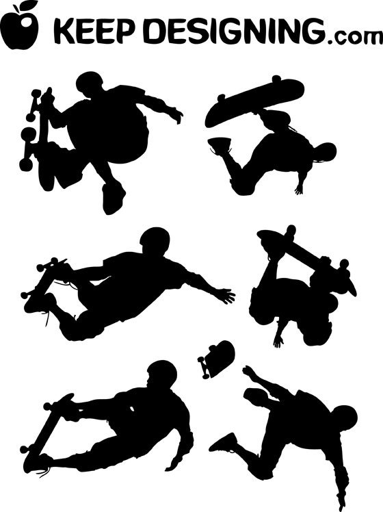 clip art free download. There are six skate board art