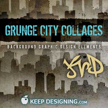 grunge-city-collage-background-design-elements-keepdesigning-promo