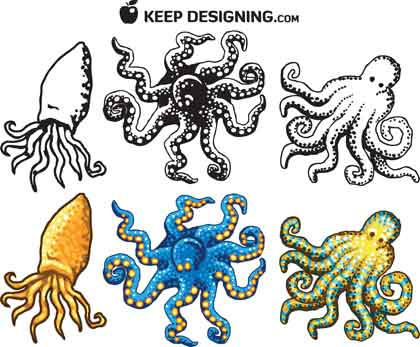 octopus-design-vectors-example
