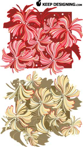 flowers clip art free. whispy-flower-vector-design-