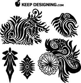 tribal-motif-floral-vectors-keepdesigning-com-example