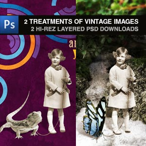 designing with vintage images