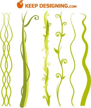Jungle Plant Vine Beanstalk Vectors- Free | Graphic Design